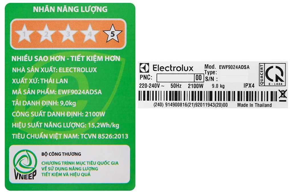 May Giat Electrolux 9 Kg Ewf9024adsa