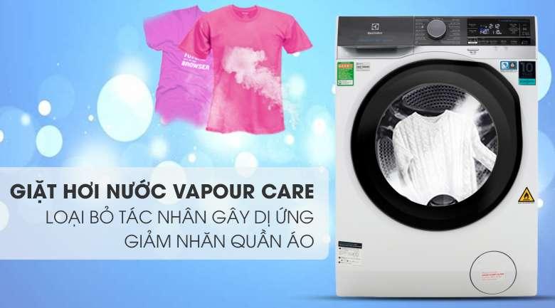 Công nghệ giặt hơi nước Vapour Care diệt vi khuẩn - Máy giặt sấy Electrolux Inverter 10 kg EWW1042AEWA
