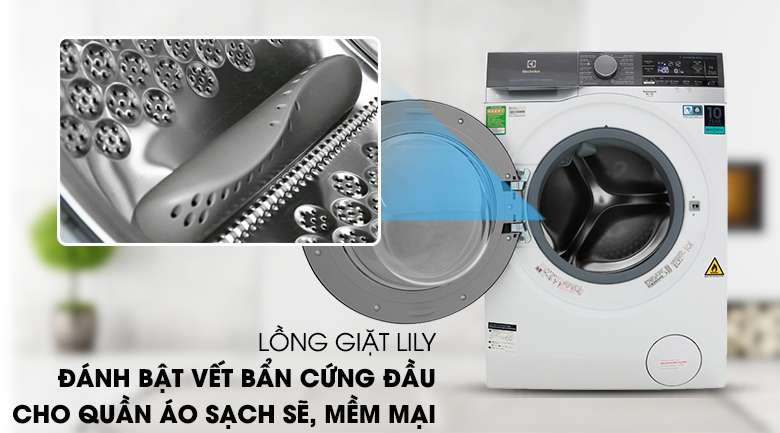Lồng giặt Lily - Máy giặt sấy Electrolux Inverter 11 kg EWW1141AEWA