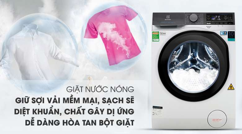 Giặt nước nóng - Máy giặt sấy Electrolux Inverter 11 kg EWW1141AEWA
