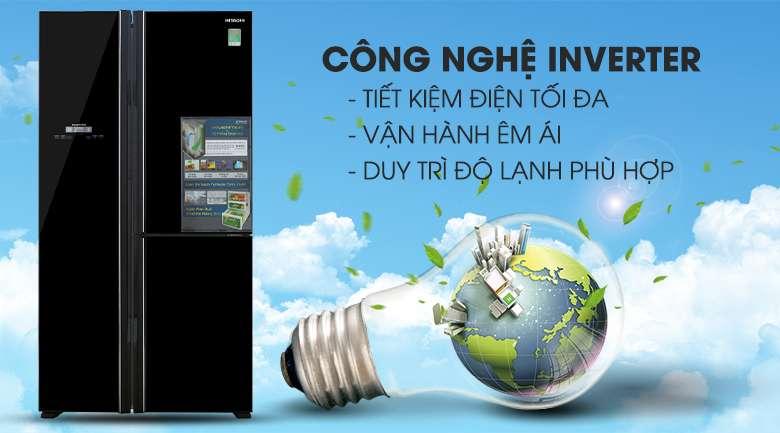 Công nghệ Inverter - Tủ lạnh Hitachi Inverter 600 lít R-FM800PGV2 GBK