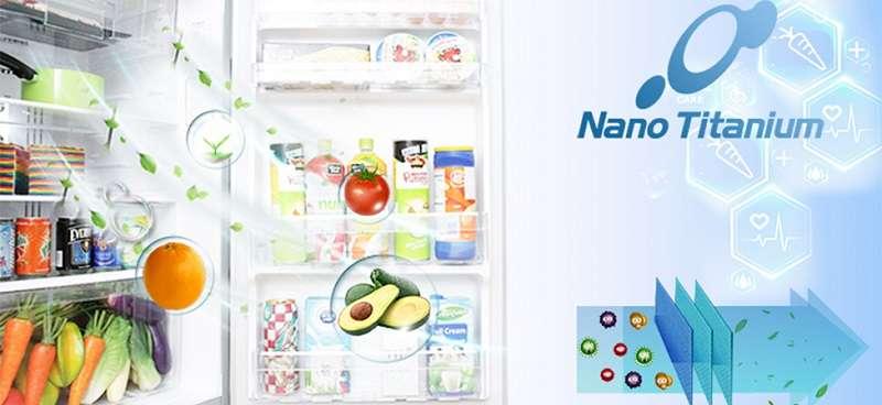 Bảo vệ sức khỏe với bộ lọc công nghệ Nano - Tủ lạnh Hitachi inverter 375 lít R-SG38FPG