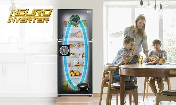 Tủ lạnh Mitsubishi Electric 344 lít MR-FX43EN-GBK-V (2 cửa) tiết kiệm điện