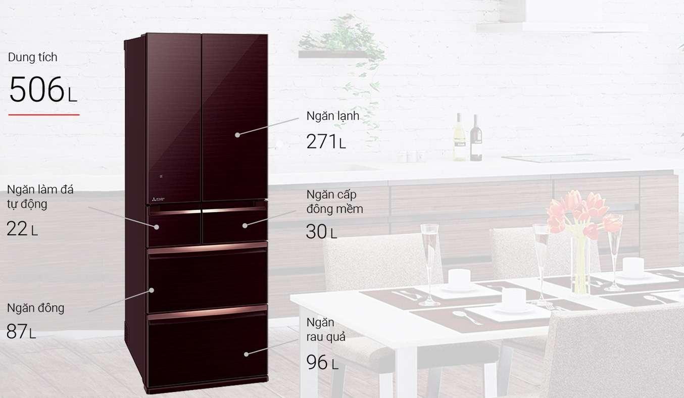 Tủ lạnh Mitsubishi Electric 506 lít MR-WX52D