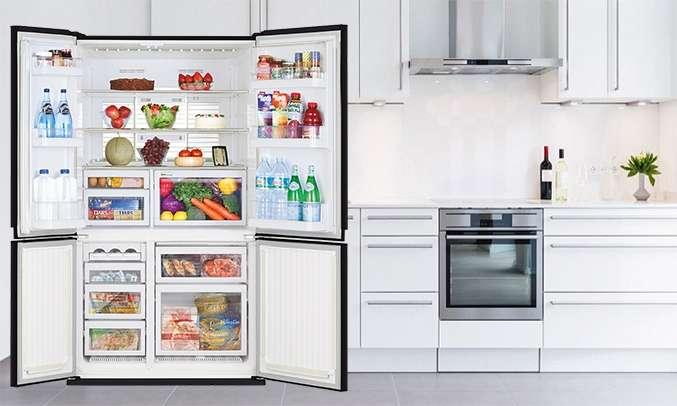 Tủ lạnh Mitsubishi Electric 580 lít MR-L72EN-GSL-V (4 cửa) thao tác thuận tiện