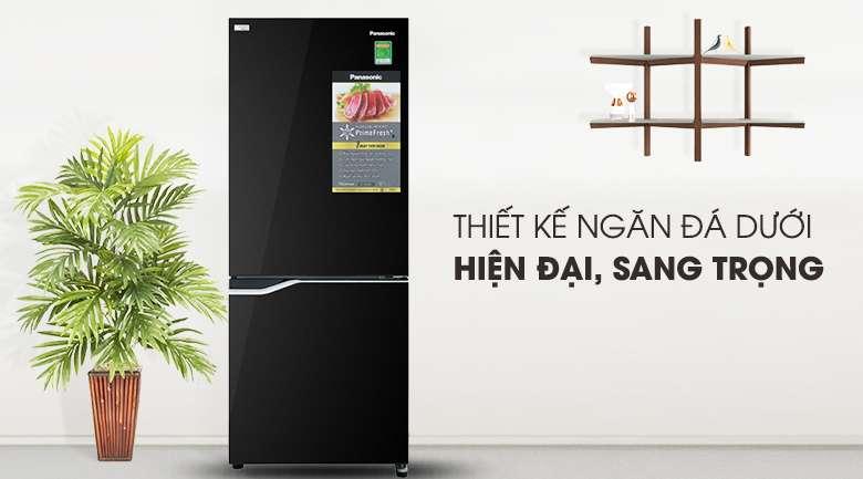 Thiết kế màu đen sang trọng - Tủ lạnh Panasonic Inverter 255 lít NR-BV280GKVN