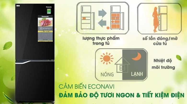 Cảm biến Econavi giúp tiết kiệm điện năng hiệu quả - Tủ lạnh Panasonic Inverter 255 lít NR-BV280GKVN