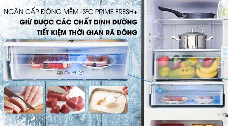 Ngăn cấp đông mềm thế hệ mới Prime Fresh+ - Tủ lạnh Panasonic Inverter 255 lít NR-BV280GKVN
