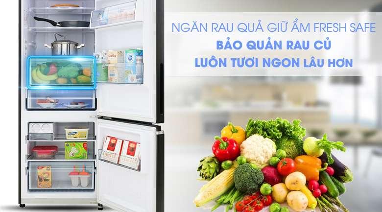 Giữ ẩm rau quả tươi ngon với ngăn Fresh Safe -