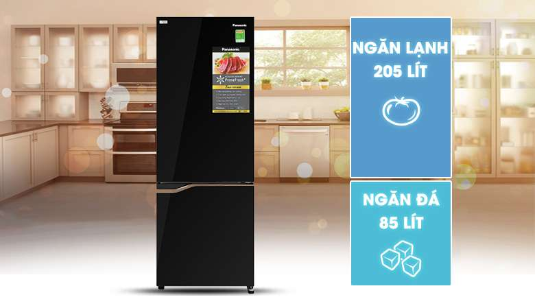 Thiết kế hiện đại cùng với ngăn đá dưới tiện dụng - Tủ lạnh Panasonic Inverter 290 lít NR-BV320GKVN