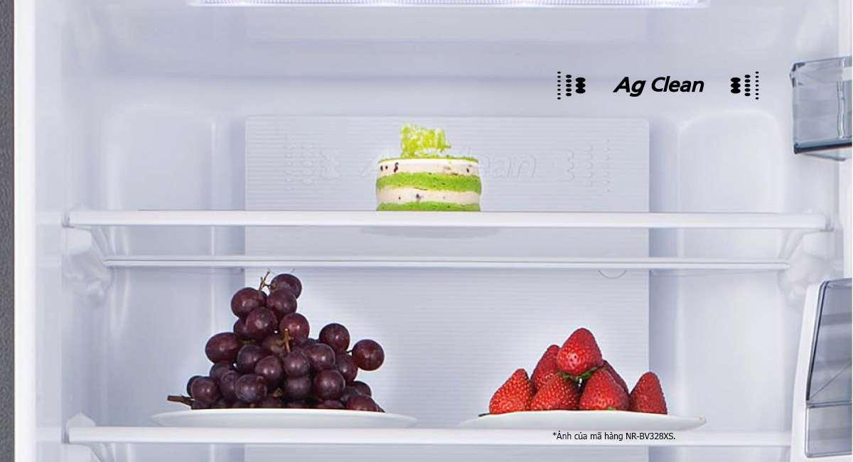 Bảo quản vệ sinh với tác dụng khử mùi và diệt khuẩn Tủ lạnh Panasonic 366 lít NR-BL381GAVN