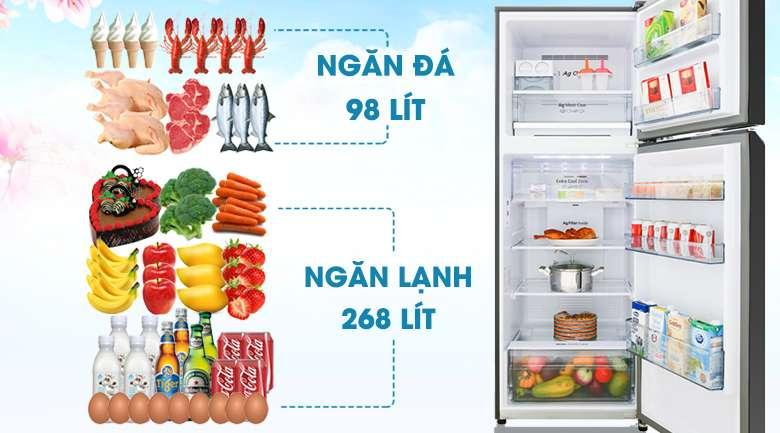 Dung tích 366 lít - Tủ lạnh Panasonic Inverter 366 lít NR-BL381GKVN
