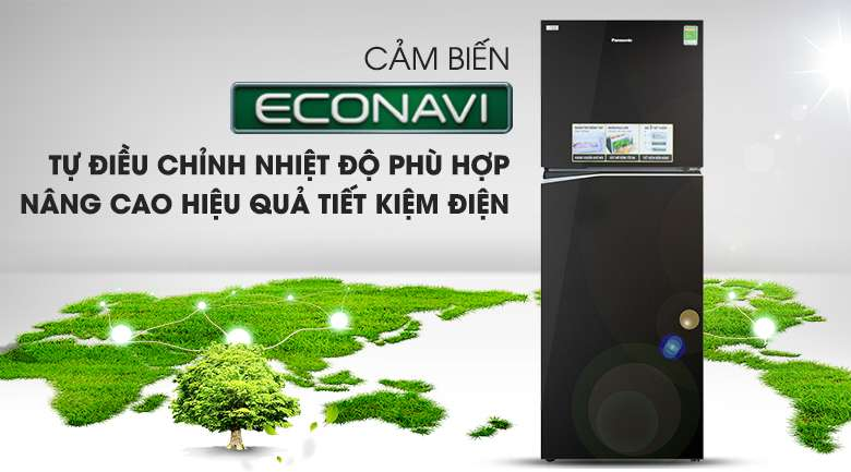 Cảm biến Econavi - Tủ lạnh Panasonic Inverter 366 lít NR-BL381GKVN