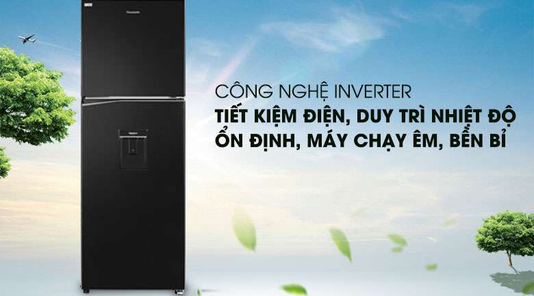 Công nghệ Inverter - Tủ lạnh Panasonic Inverter 366 lít NR-BL381WKVN