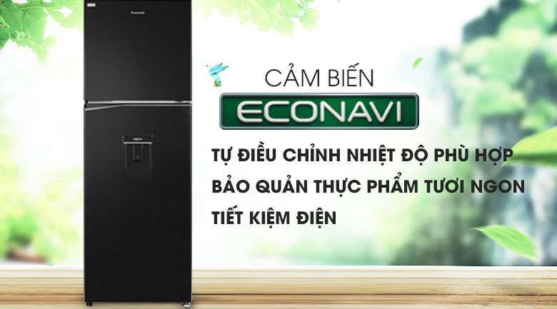 Cảm biến Econavi - Tủ lạnh Panasonic Inverter 366 lít NR-BL381WKVN