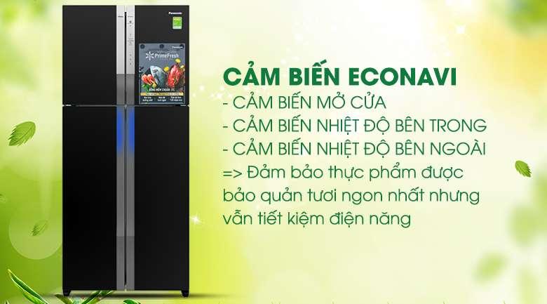 Cảm biến Econavi - Tủ lạnh Panasonic Inverter 550 lít NR-DZ600GXVN