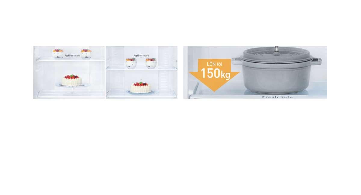 Khay tùy chỉnh Tủ lạnh Panasonic Inverter 326 lít NR-BL351GAVN