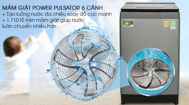 Mâm giặt Mega Power Wash - Máy giặt Toshiba Inverter 11 kg AW-DUH1200GV