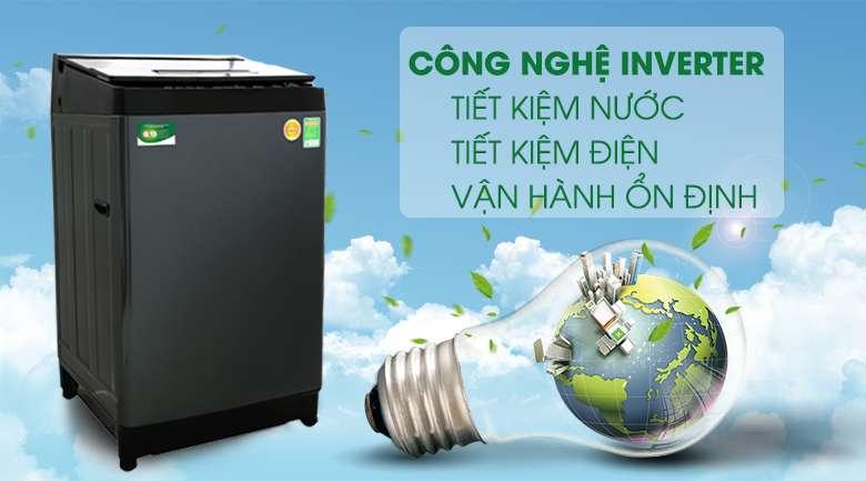 Máy giặt Toshiba Inverter 13 kg AW-DUJ1400GV KK - Tiết kiệm điện và nước nhờ công nghệ Inverter