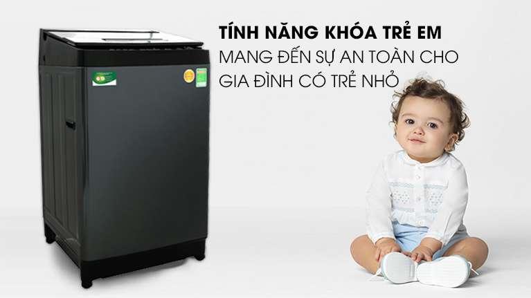 Máy giặt Toshiba Inverter 13 kg AW-DUJ1400GV KK - An toàn với khóa trẻ em