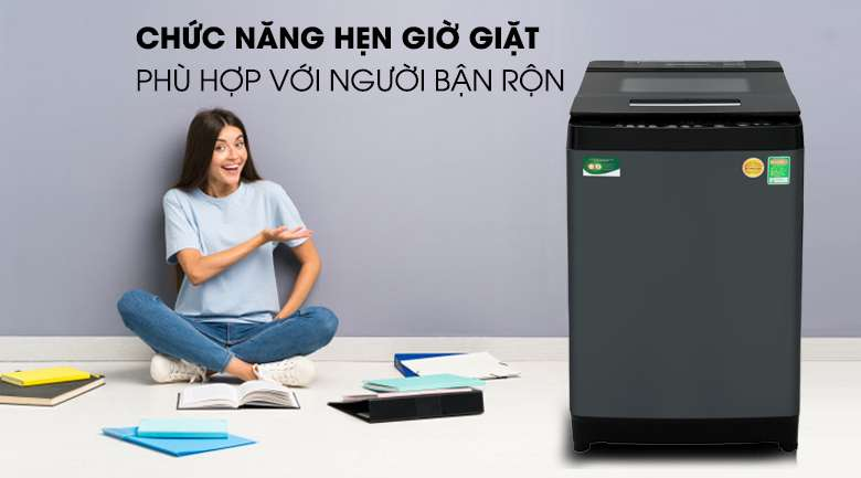 Hẹn giờ giặt tiện lợi - Máy giặt Toshiba Inverter 13 kg AW-DUJ1400GV KK