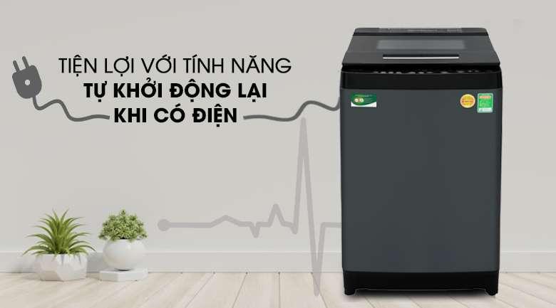 Tự khởi động lại khi có điện - Máy giặt Toshiba Inverter 13 kg AW-DUJ1400GV KK