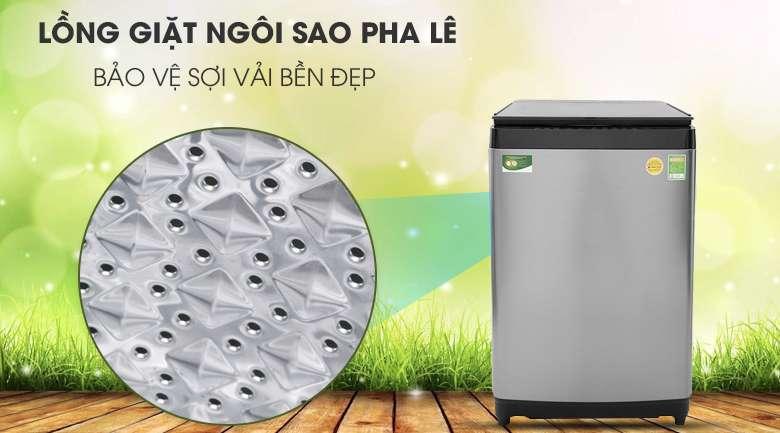 Lồng giặt ngôi sao pha lê - Máy giặt Toshiba Inverter 15 kg AW-DUG1600WV SK