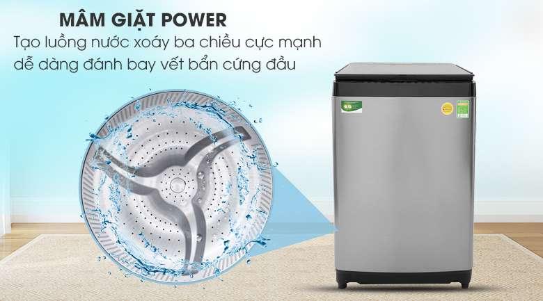 Mâm giặt Mega Power Wash - Máy giặt Toshiba Inverter 15 kg AW-DUG1600WV SK