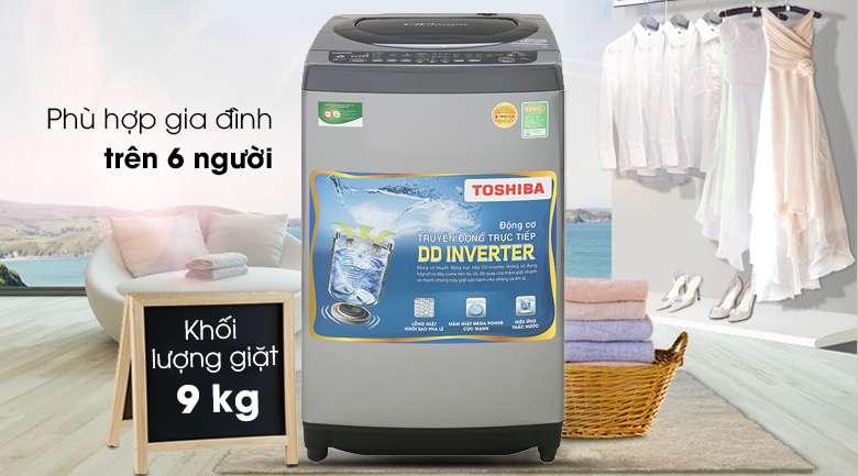 Khối lượng giặt 9 kg - Máy giặt Toshiba Inverter 9 Kg AW-DJ1000CV SK