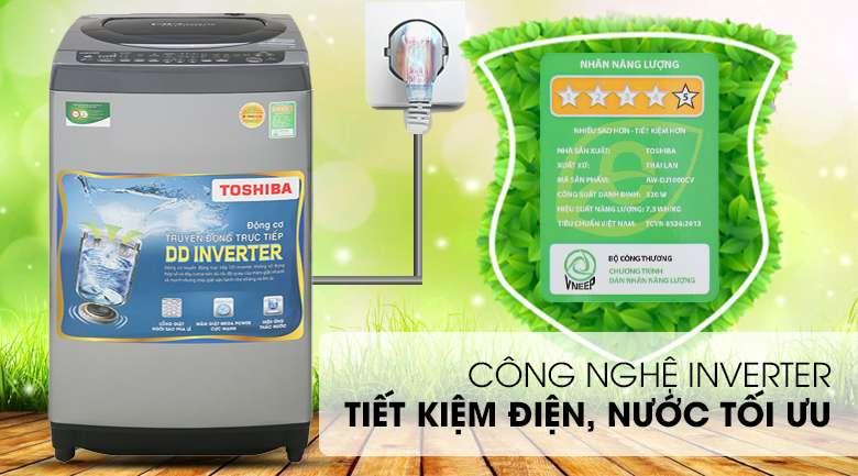 Công nghệ Inverter - Máy giặt Toshiba Inverter 9 Kg AW-DJ1000CV SK