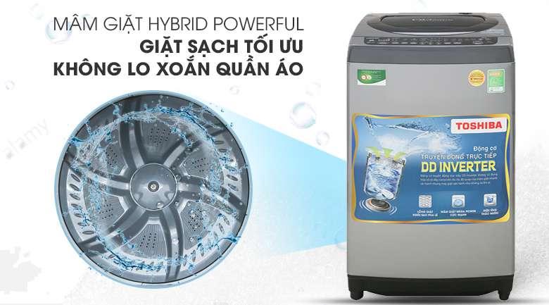 Mâm giặt Hybrid Powerful - Máy giặt Toshiba Inverter 9 Kg AW-DJ1000CV SK