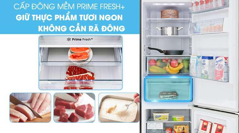 Ngăn cấp đông mềm -3 độ C thế hệ mới Prime Fresh+ - Tủ lạnh Panasonic Inverter 290 lít NR-BV320QSVN