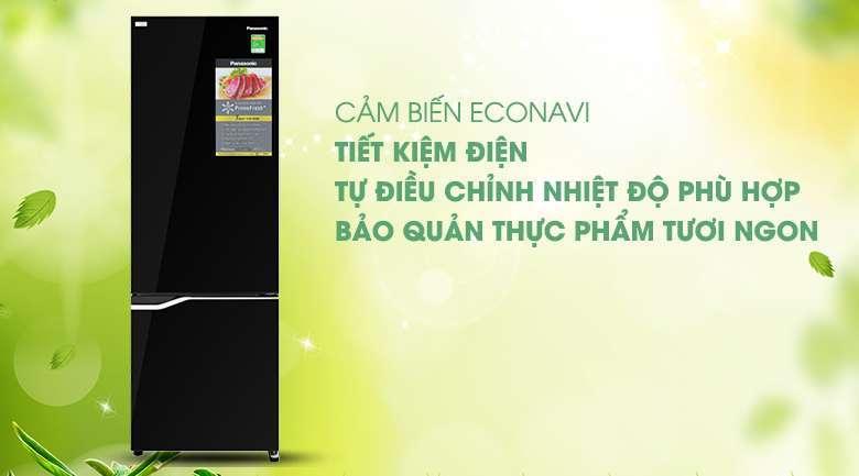Công nghệ Econavi - Tủ lạnh Panasonic Inverter 322 lít NR-BV360GKVN