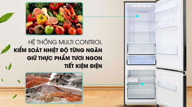 Hệ thống Multi Control - Tủ lạnh Panasonic Inverter 322 lít NR-BV360GKVN