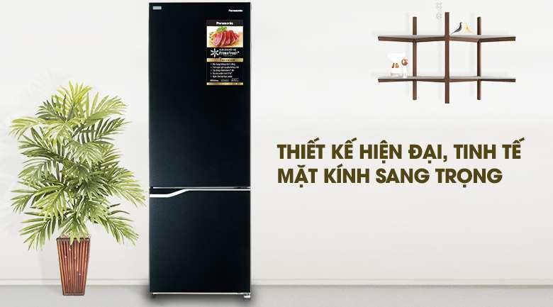 Thiết kế hiện đại với ngăn đá dưới tiện lợi - Tủ lạnh Panasonic Inverter 322 lít NR-BV360GKVN