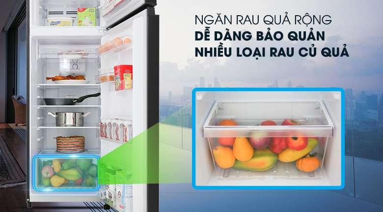 Ngăn rau quả rộng - Tủ lạnh Toshiba Inverter 253 lít GR-B31VU UKG