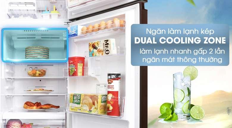 Ngăn Dual Cooling Zone - Tủ lạnh Toshiba Inverter 305 lít GR-AG36VUBZ XB1