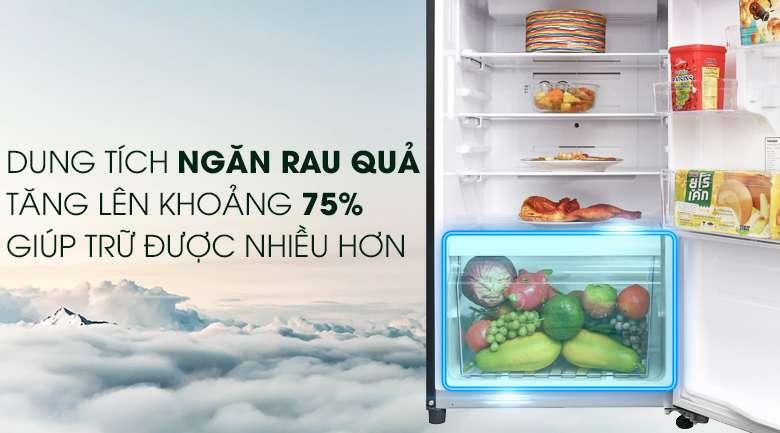 Ngăn rau quả rộng - Tủ lạnh Toshiba Inverter 305 lít GR-AG36VUBZ XB1