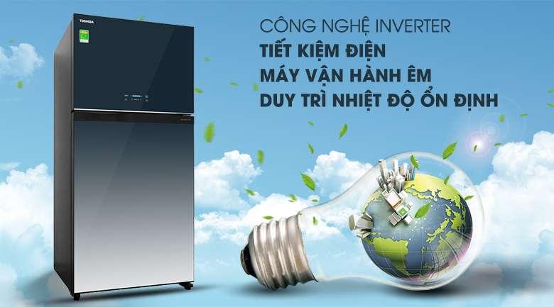Tủ lạnh Toshiba Inverter 555 lít GR-AG58VA GG  - công nghệ inverter tiết kiệm điện hiệu quả