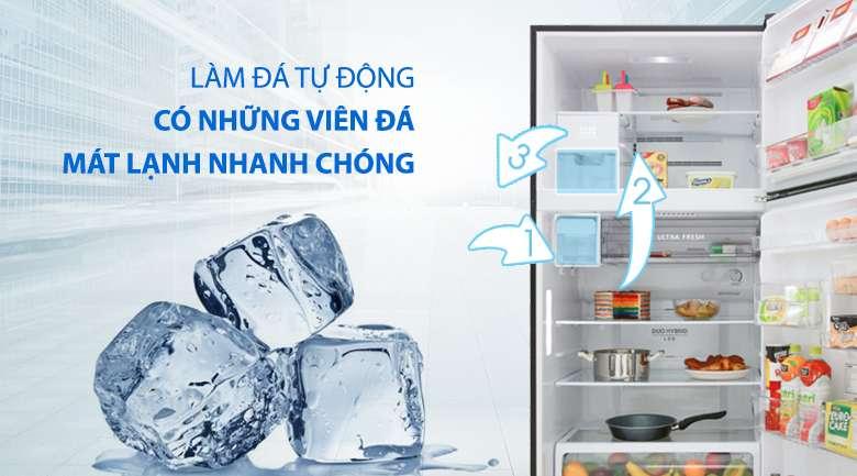 Tủ lạnh Toshiba Inverter 555 lít GR-AG58VA GG  - tiện lợi cơ chế làm đá tự động