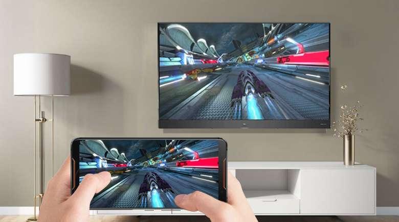 Chiếu màn hình điện thoại lên Android Tivi QLED TCL 55 inch L55X4