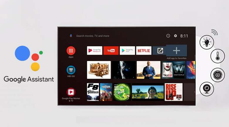Android Tivi TCL 4K 50 inch L50P8S - Google Assistant