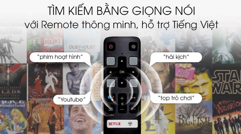 Android Tivi TCL 4K 50 inch L50P8S - Remote thông minh