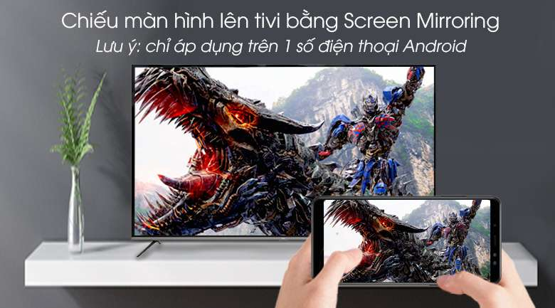 Android Tivi TCL 4K 55 inch L55P8-UF - Screen Mirroring