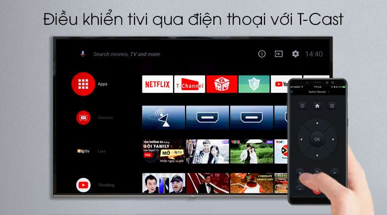 Android Tivi TCL 4K 55 inch L55P8-UF - T-Cast