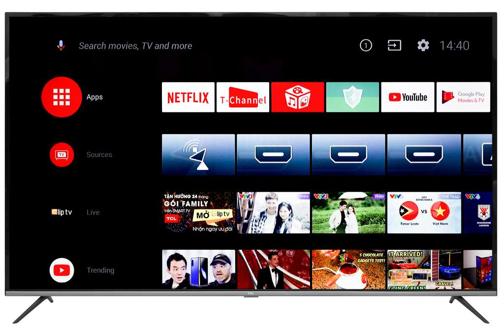 Android Tivi Tcl 4k 55 Inch L55p8
