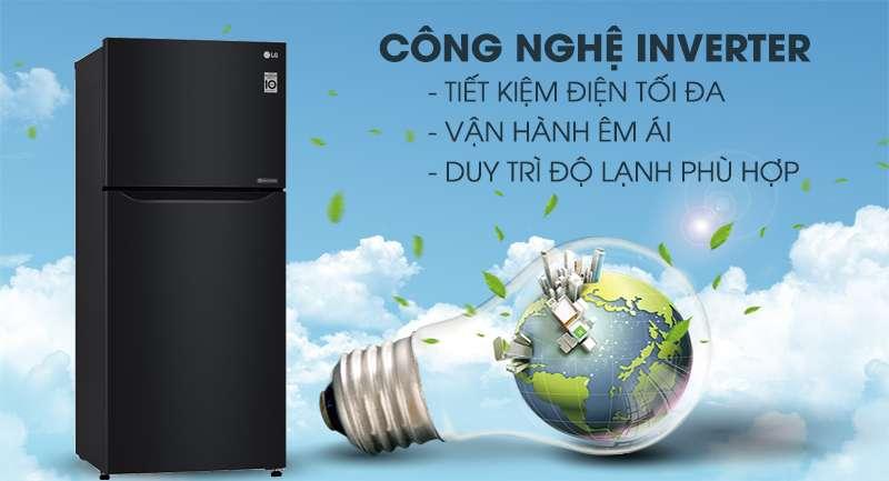 Tủ lạnh LG Inverter 393 lít GN-B422WB-Tiết kiệm điện hiệu quả với công nghệ biến tần Inverter