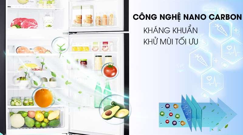 Tủ lạnh LG Inverter 393 lít GN-B422WB-Kháng khuẩn, khử mùi tối ưu nhờ công nghệ Nano Carbon