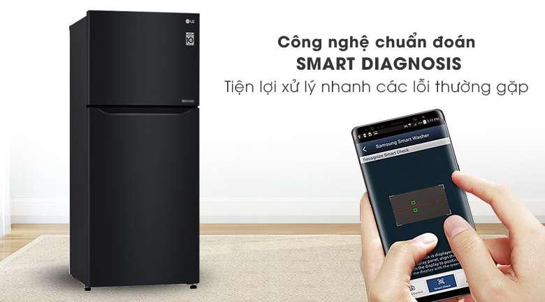 Tủ lạnh LG Inverter 393 lít GN-B422WB-Tiện lợi bởi công nghệ chuẩn đoán lỗi thông minh Smart Diagnosis