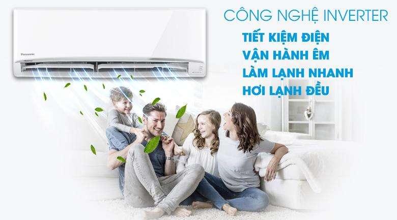 Điều Hòa Panasonic Inverter CU/CS-WPU12WKH-8M 1 Chiều 12000BTU Gas R32